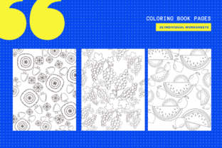 Print on Demand: 15 Fruits & Flowers Coloring Pages Graphic Coloring Pages & Books By MarinovaDesigns