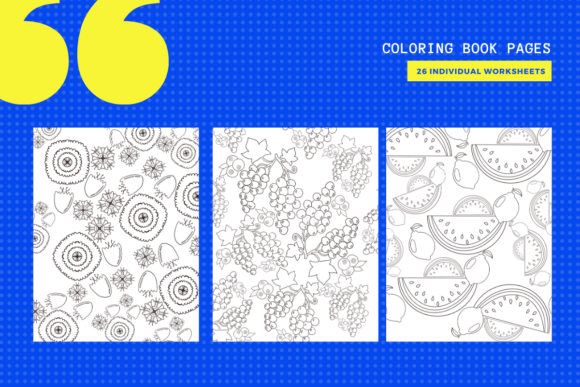 Print on Demand: 15 Fruits & Flowers Coloring Pages Graphic Coloring Pages & Books By yumbeehomeschool