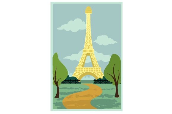 Download Free Vintage Paris Poster Svg Cut File By Creative Fabrica Crafts for Cricut Explore, Silhouette and other cutting machines.