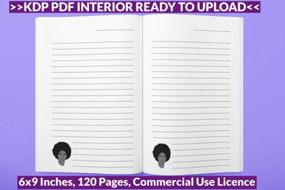Print on Demand: Afro Hair Man Journal Paper Ready KDP Graphic KDP Interiors By POD Emporium