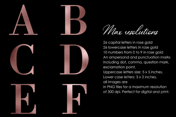 Download Free Alphabet And Numbers Rose Gold Foil Graphic By Therosemind Creative Fabrica for Cricut Explore, Silhouette and other cutting machines.