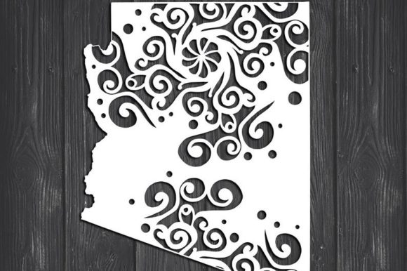 Download Free Arizona State Mandala Graphic By Fortunasvg Creative Fabrica for Cricut Explore, Silhouette and other cutting machines.