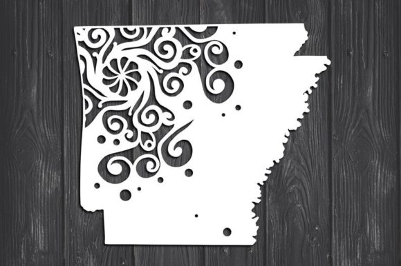 Download Free Arkansas State Mandala Graphic By Fortunasvg Creative Fabrica for Cricut Explore, Silhouette and other cutting machines.