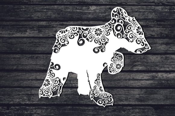 Download Free Baby Bear Mandala Graphic By Fortunasvg Creative Fabrica for Cricut Explore, Silhouette and other cutting machines.