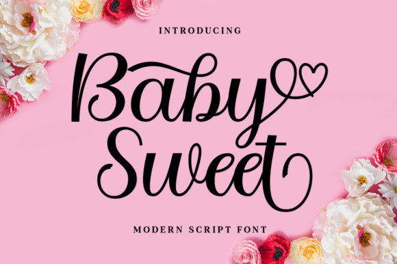 Print on Demand: Baby Sweet Script & Handwritten Font By nurolkamal55