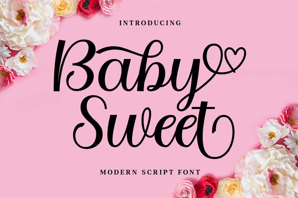 Download Free Baby Sweet Font By Nurolkamal55 Creative Fabrica for Cricut Explore, Silhouette and other cutting machines.