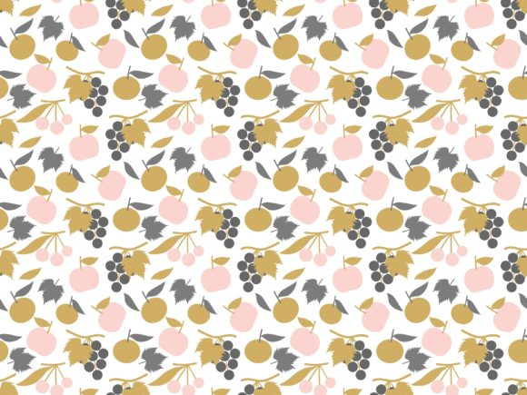 Backgrounds Pattern with Stylized Fruits Graphic Backgrounds By americodealmeida