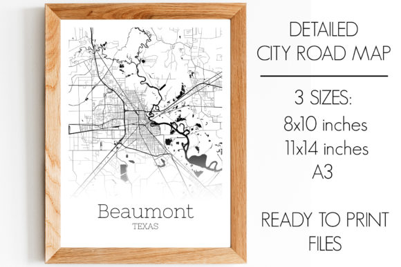Print on Demand: Beaumont Texas City Map Graphic Photos By SVGExpress