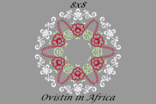 Beautiful Red Floral Quilt Block Sewing & Crafts Embroidery Design By Ovistin in Africa