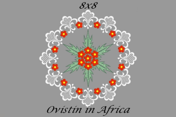 Beautiful Red & White Floral Quilt Block Sewing & Crafts Embroidery Design By Ovistin in Africa