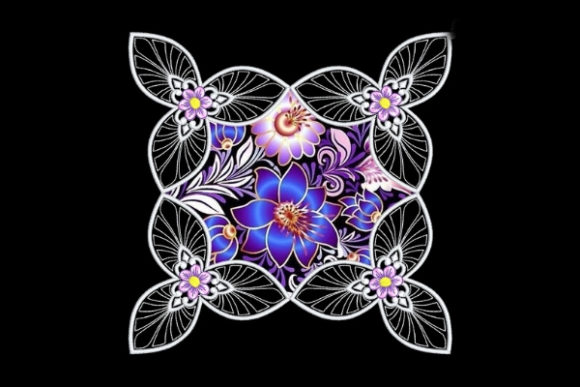 Download Free Beautiful Satin Applique Quilt Block Creative Fabrica for Cricut Explore, Silhouette and other cutting machines.