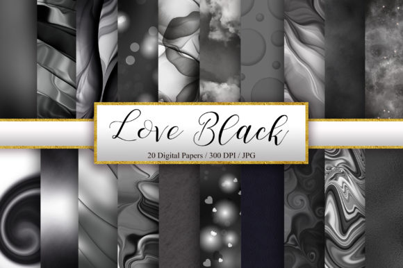 Download Free Black Background Digital Papers Graphic By Pinkpearly Creative for Cricut Explore, Silhouette and other cutting machines.