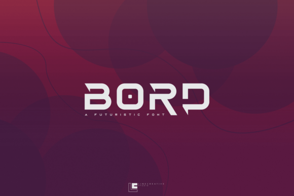 Print on Demand: Bord Display Font By Line creative