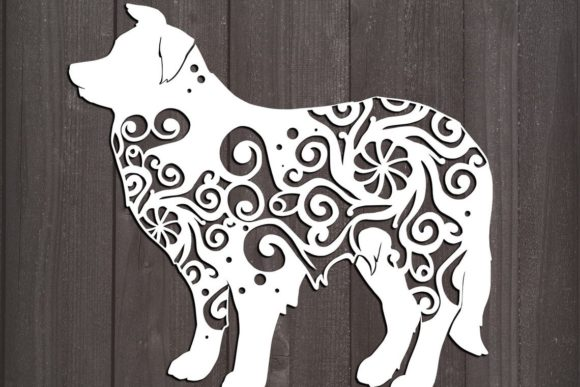 Download Free Border Collie Mandala Graphic By Fortunasvg Creative Fabrica for Cricut Explore, Silhouette and other cutting machines.