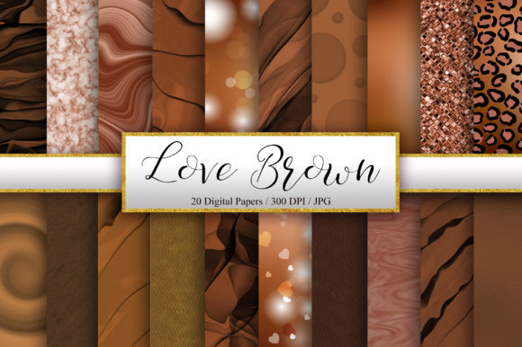 Download Free Brown Background Digital Papers Graphic By Pinkpearly Creative for Cricut Explore, Silhouette and other cutting machines.