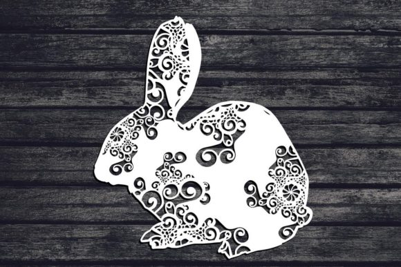 Download Free Bunny Rabbit Mandala Graphic By Fortunasvg Creative Fabrica for Cricut Explore, Silhouette and other cutting machines.