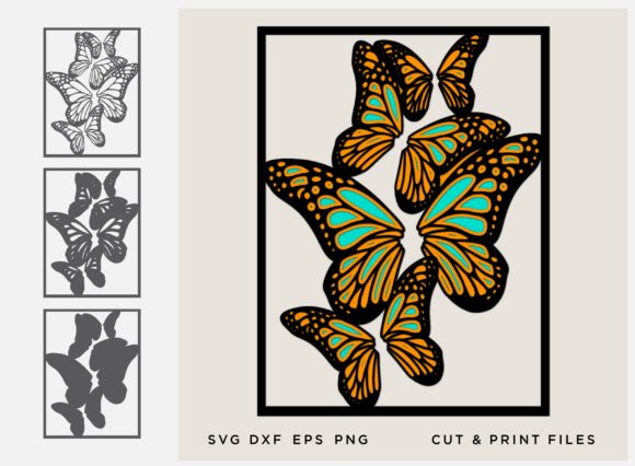 Download Free Butterfly Layered Cut File Graphic By 2dooart Creative Fabrica for Cricut Explore, Silhouette and other cutting machines.