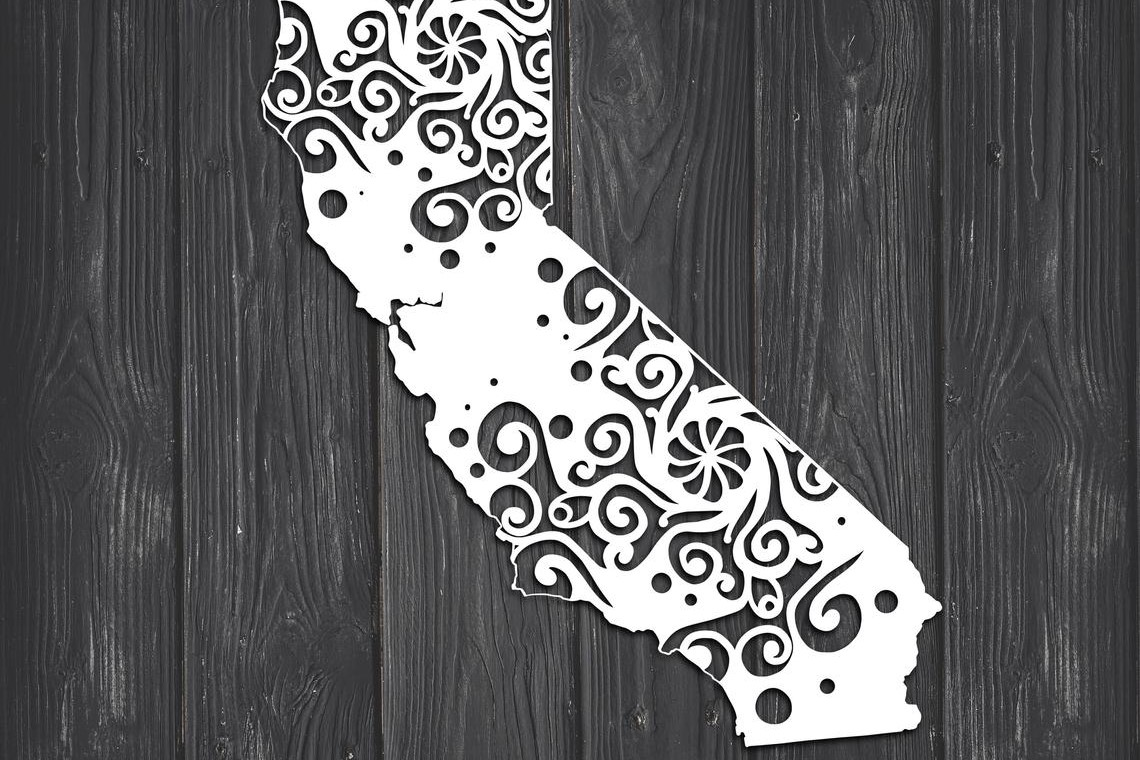 Download Free California State Mandala Graphic By Fortunasvg Creative Fabrica for Cricut Explore, Silhouette and other cutting machines.