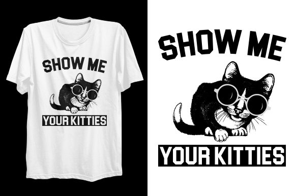 Print on Demand: Cat T-shirt Design Graphic Print Templates By bsakib777