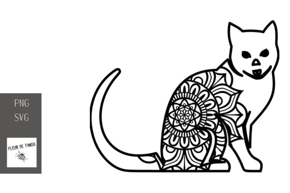 Download Free Cat Zentangle Graphic By Fleur De Tango Creative Fabrica for Cricut Explore, Silhouette and other cutting machines.