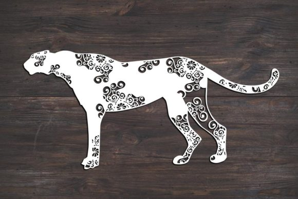 Download Free Cheetah Mandala Graphic By Fortunasvg Creative Fabrica for Cricut Explore, Silhouette and other cutting machines.