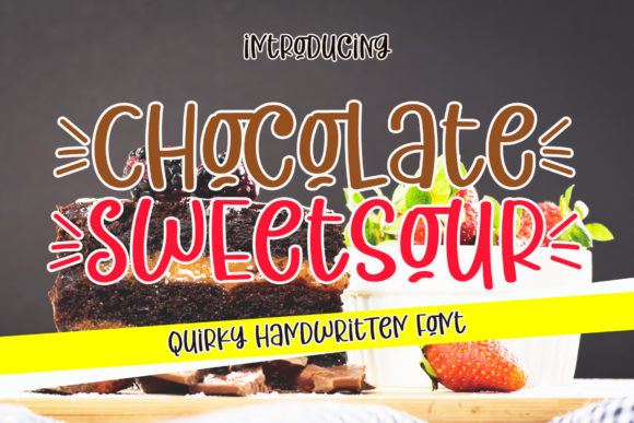 Print on Demand: Chocolate Sweetsour Script & Handwritten Font By airotype
