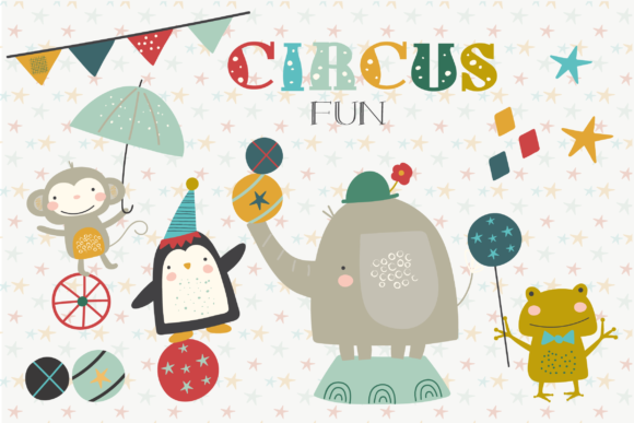 Print on Demand: Circus Fun Graphic Illustrations By poppymoondesign