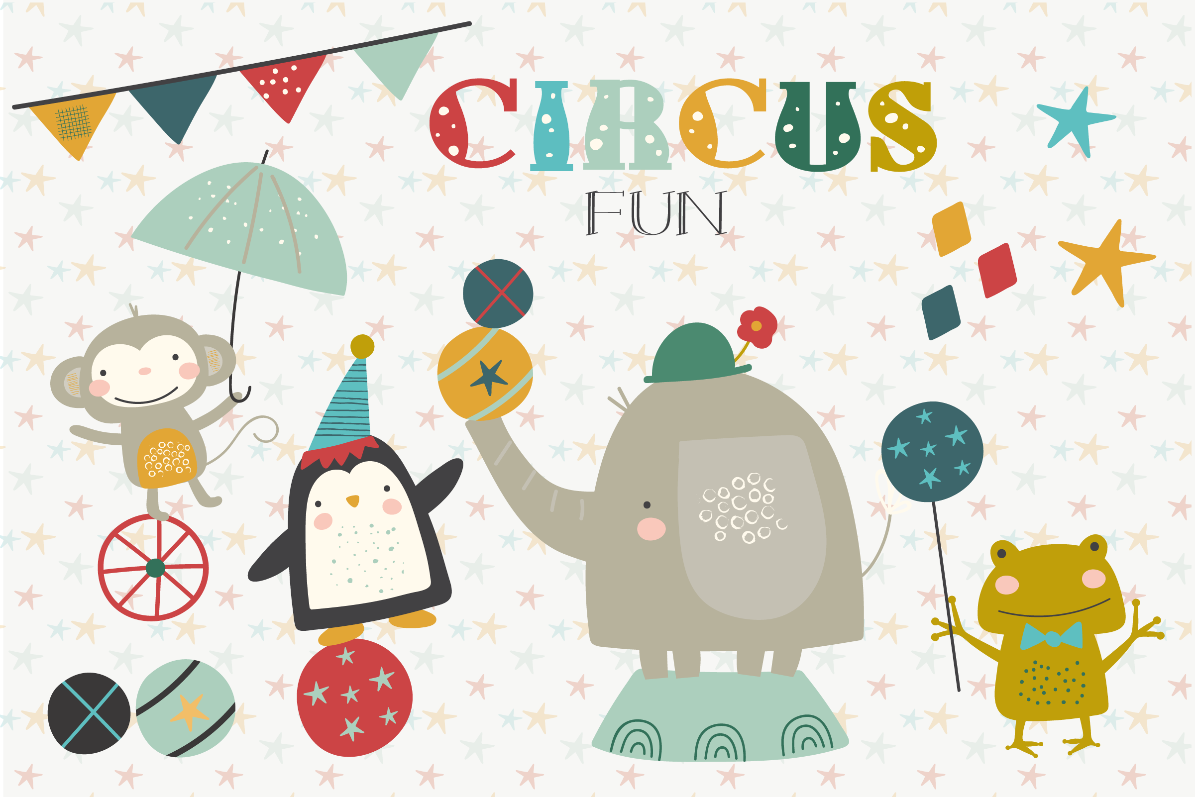 Download Free Circus Fun Graphic By Poppymoondesign Creative Fabrica for Cricut Explore, Silhouette and other cutting machines.