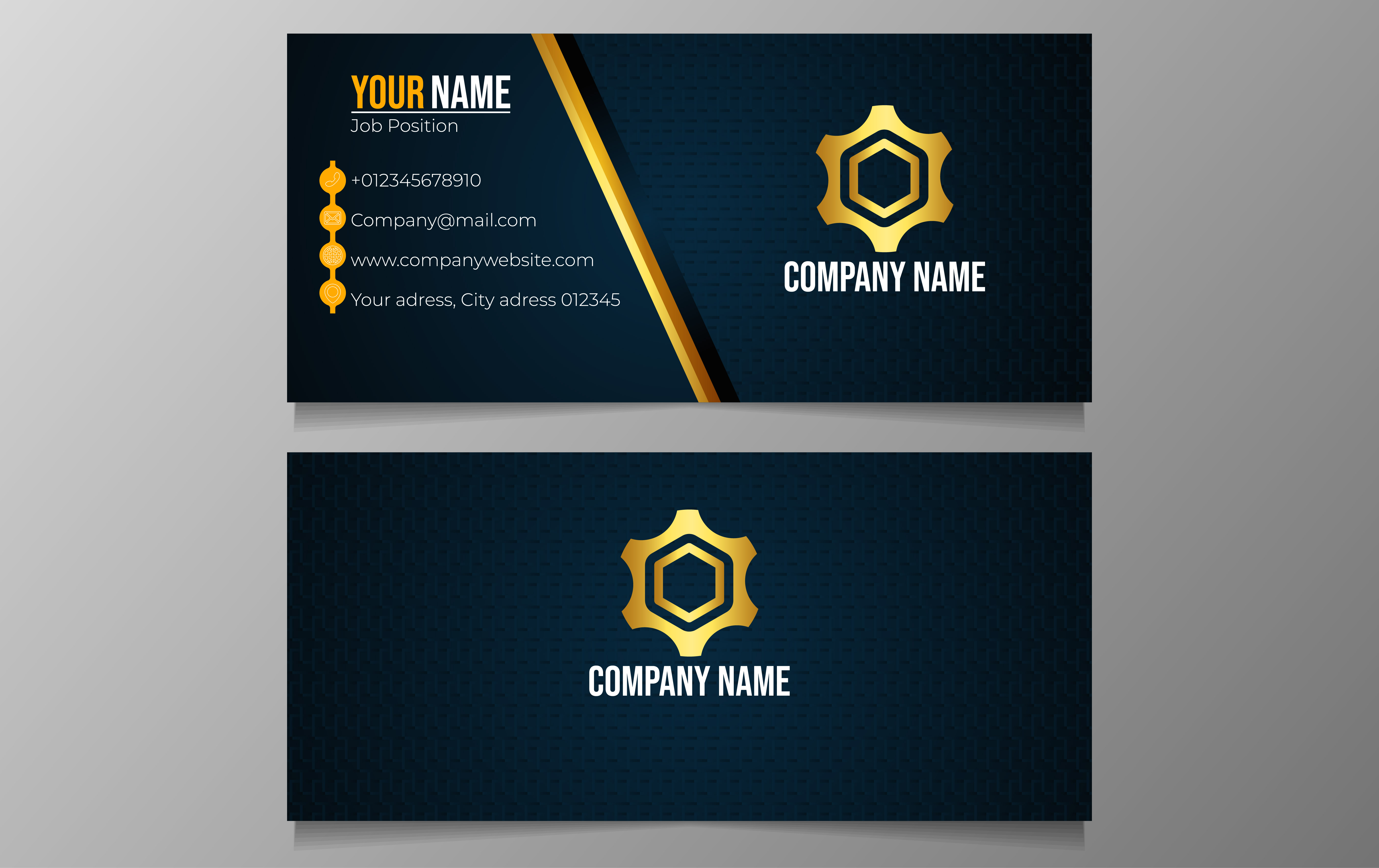 Download Free Clean And Modern Business Card Graphic By Ngabeivector for Cricut Explore, Silhouette and other cutting machines.