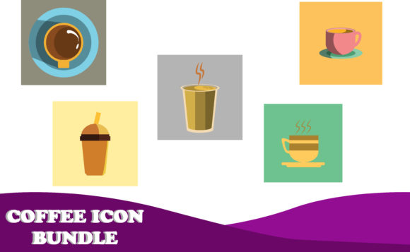 Download Free Coffee Icon Design Bundle Graphic By Purplebubble Creative Fabrica for Cricut Explore, Silhouette and other cutting machines.
