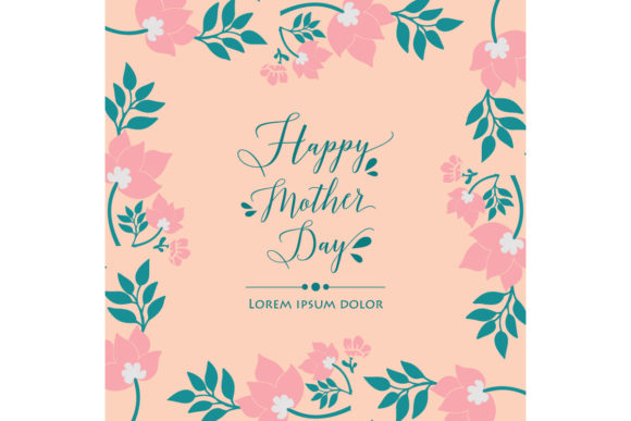 Cute Happy Mother Day Design of Cards Graphic Backgrounds By stockfloral