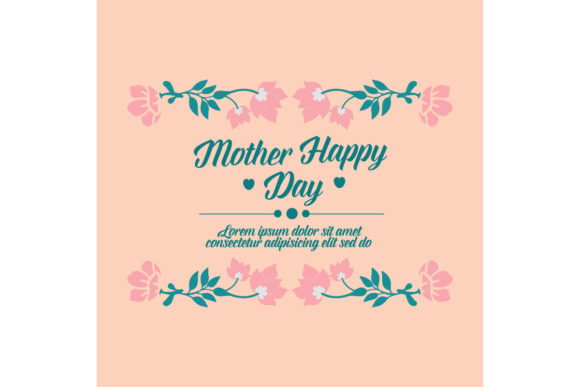 Download Free Design Floral Frame For Happy Mother S Day Graphic By for Cricut Explore, Silhouette and other cutting machines.