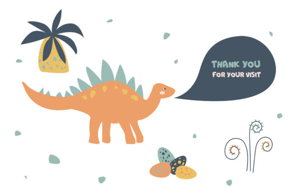 Download Free Dinosaur Vector Clipart Graphic By Lena Dorosh Creative Fabrica for Cricut Explore, Silhouette and other cutting machines.