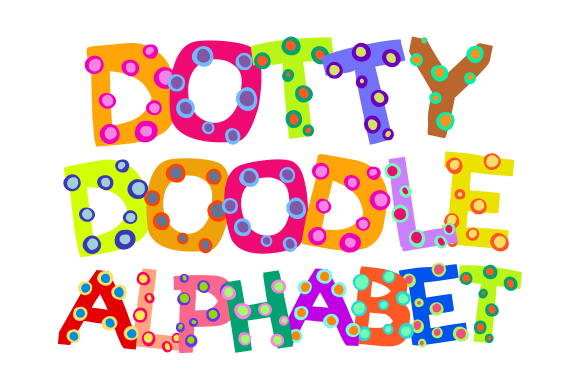 Print on Demand: Dotty Doodle Alphabet Clipart Graphic Illustrations By Prawny