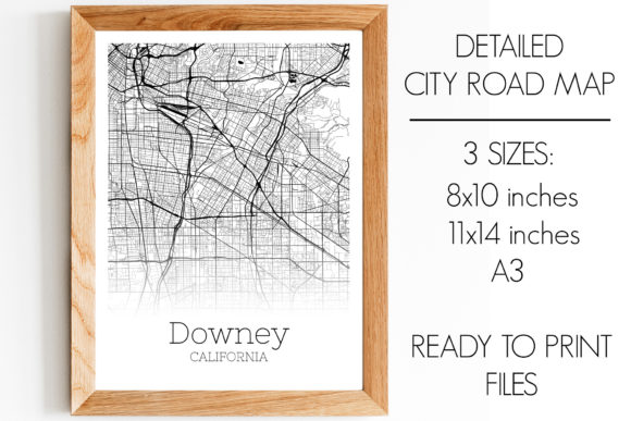 Download Free Downey California City Map Graphic By Svgexpress Creative Fabrica for Cricut Explore, Silhouette and other cutting machines.
