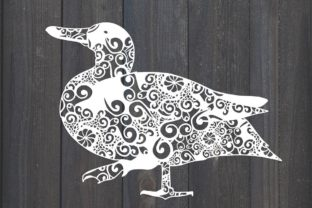 Download Free Bird Duck Mandala Graphic By Fortunasvg Creative Fabrica SVG Cut Files