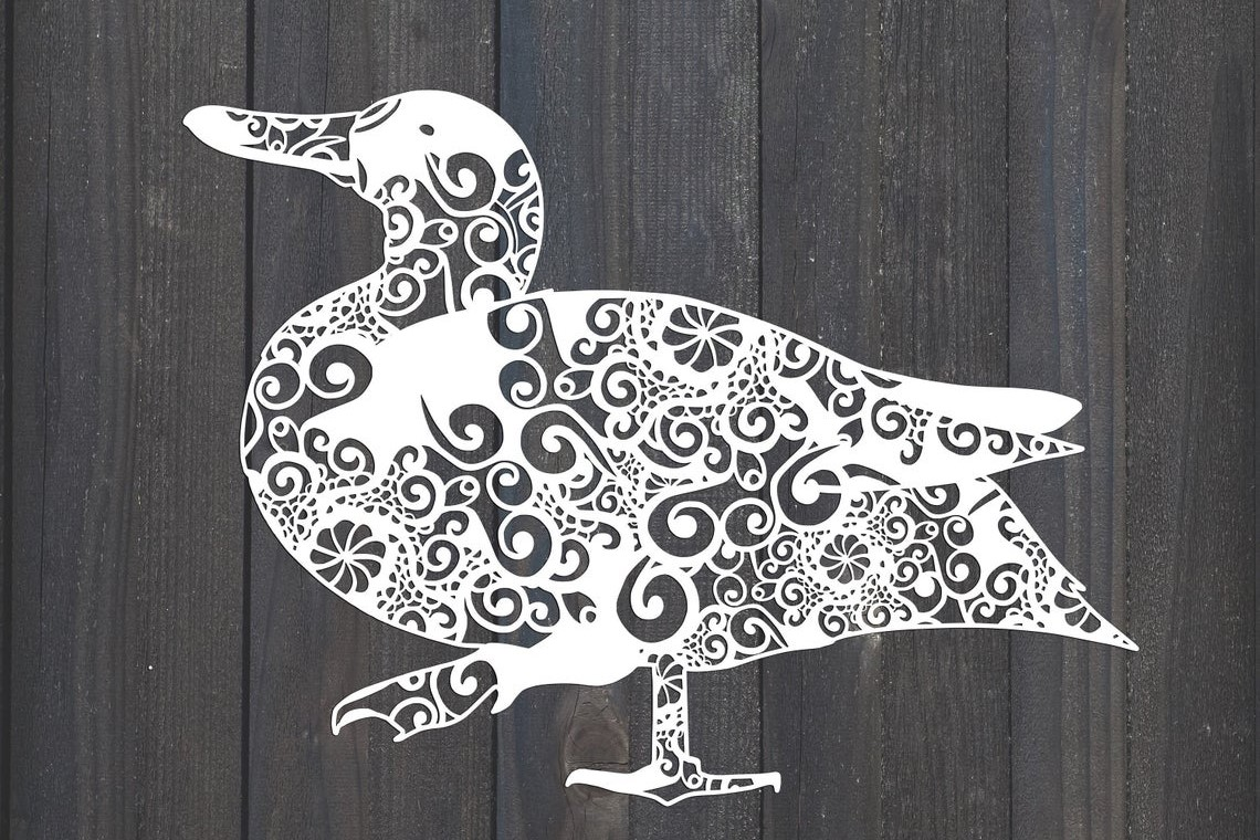 Download Free Bird Duck Mandala Graphic By Fortunasvg Creative Fabrica for Cricut Explore, Silhouette and other cutting machines.