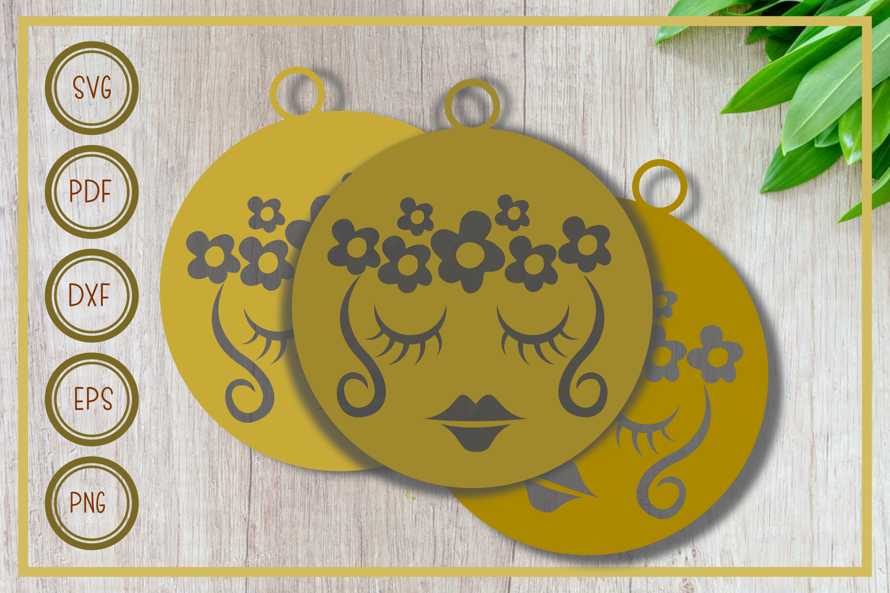 Download Free Earring Beauty Aloha Graphic By Rizuki Store Creative Fabrica for Cricut Explore, Silhouette and other cutting machines.