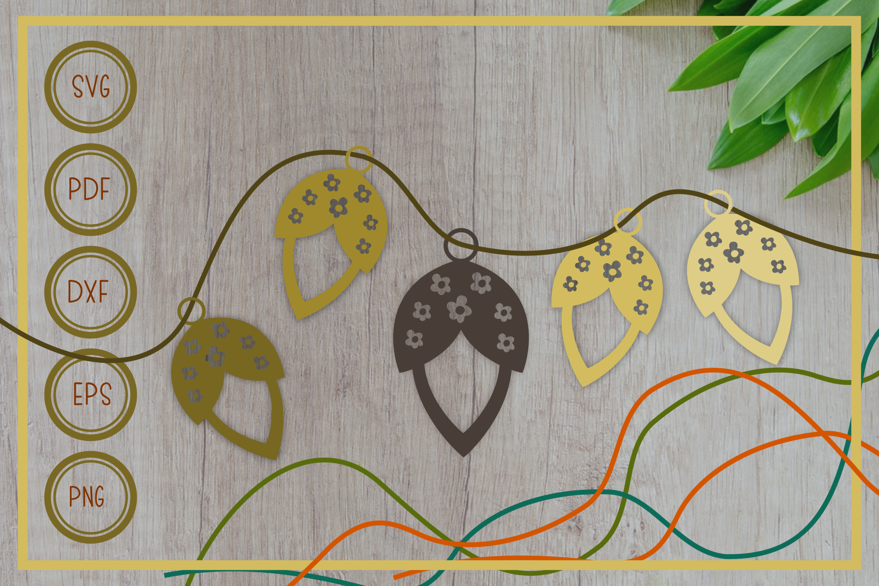 Download Free Earring Fruit Cut File Graphic By Rizuki Store Creative Fabrica for Cricut Explore, Silhouette and other cutting machines.