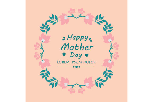 Download Free Elegant Flower For Happy Mother Day Graphic By Stockfloral for Cricut Explore, Silhouette and other cutting machines.
