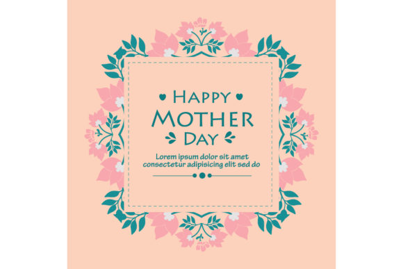 Elegant Happy Mother Day Greeting Cards Graphic Backgrounds By stockfloral