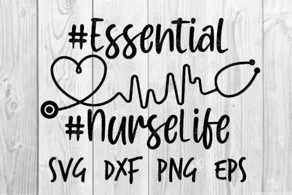 Download Free Essential Nurselife Graphic By Spoonyprint Creative Fabrica for Cricut Explore, Silhouette and other cutting machines.