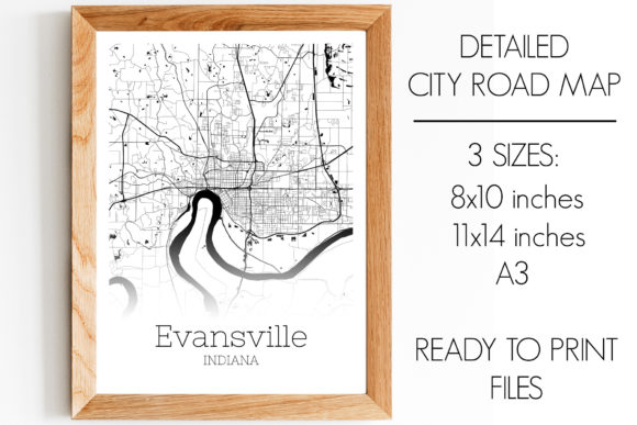 Evansville Indiana City Map Graphic By Svgexpress Creative Fabrica