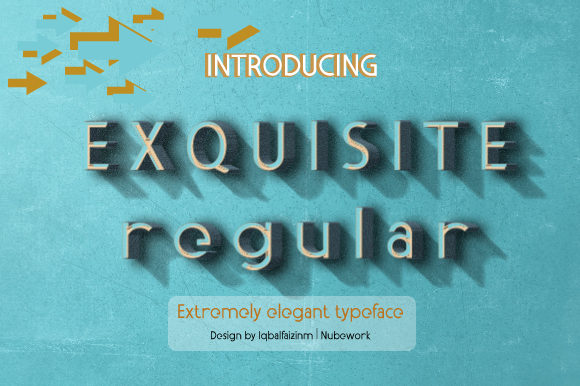 Print on Demand: Exquisite Display Font By iqbalfaizinm