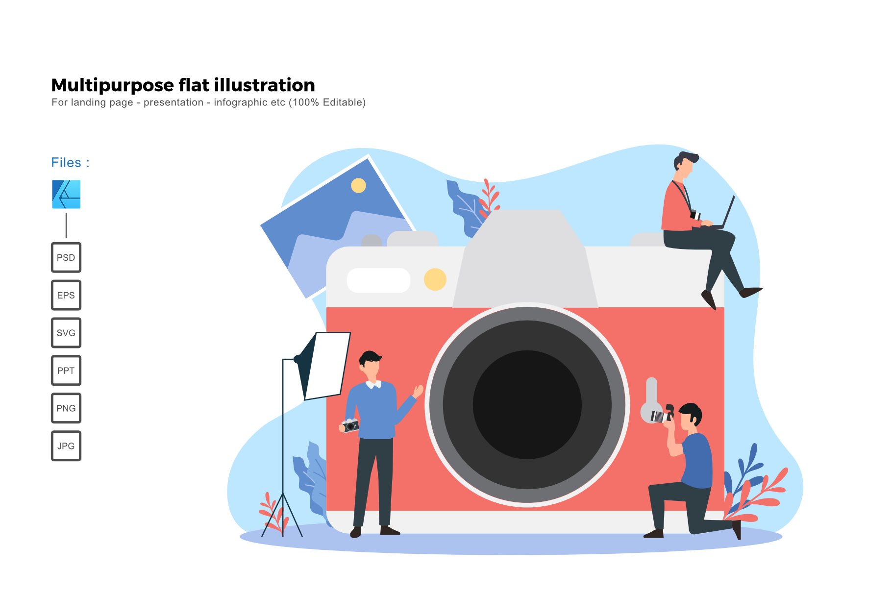 Download Free Flat Illustration Photographer Grafico Por Rivatxfz Creative for Cricut Explore, Silhouette and other cutting machines.