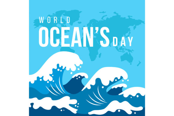 Download Free Flat World Oceans Day Graphic By Miss Chatz Creative Fabrica for Cricut Explore, Silhouette and other cutting machines.