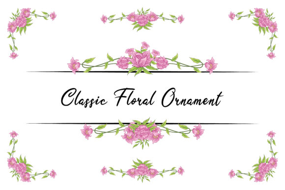 Download Free Floral Classic Vector Ornaments Vintage Graphic By Anomali Bisu SVG Cut Files