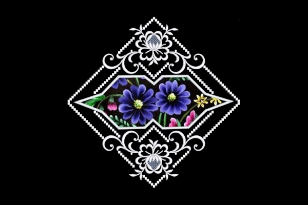 Download Free Flowers Satin Applique Quilt Block Creative Fabrica for Cricut Explore, Silhouette and other cutting machines.