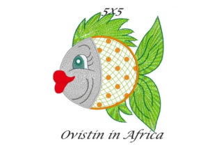 Green & Orange Sassy Applique Fish Fish & Shells Embroidery Design By Ovistin in Africa
