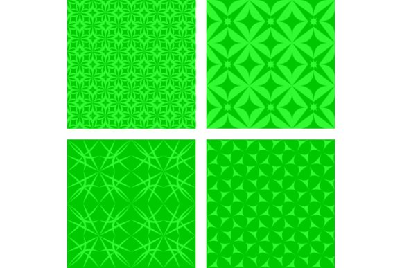 Download Free Green Seamless Geometric Pattern Set Graphic By Davidzydd for Cricut Explore, Silhouette and other cutting machines.